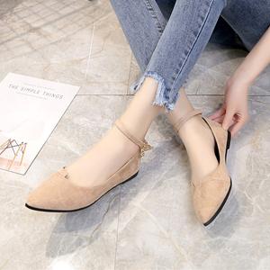 2018 mùa hè mới thời trang Hàn Quốc phẳng phẳng với chỉ thấp- cắt giày phụ nữ thường bộ bàn chân thoải mái thấp- đầu giày phụ nữ