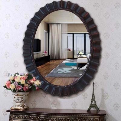 美式镜椭圆浴室镜壁挂镜装饰镜厕所洗脸台盆镜