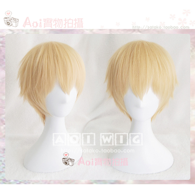 42agent AOI Huang Shaotian FATE old sword FGO Arthur gold glitter Gilgamesh cosplay wig - Taobao