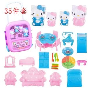 Hello Kitty Pink Pig Nhà Kho Báu Xe Đẩy Đồ Chơi Vali Con Phù Hợp Với Y Tế Vali Cậu Bé và Cô Gái Đồ Chơi