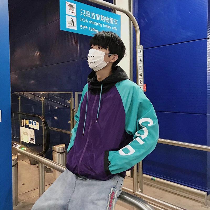 Hồng Kông gió đồng phục bóng chày trong siêu lửa mặt trời quần áo bảo hộ nam Hàn Quốc phiên bản hip hop hip-hop bf gió thể thao lỏng lẻo mặt trời bảo vệ quần áo nam giới và phụ nữ