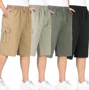 Mùa hè trung niên quần short nam cotton cộng với phân bón XL cha năm quần trung niên quần để mặc phần mỏng