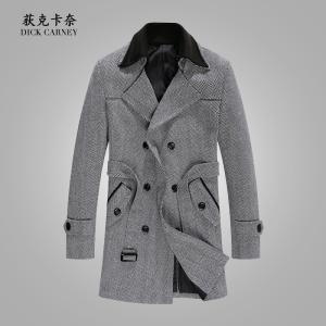 Chống mùa giải giải phóng mặt bằng áo len nam Hàn Quốc phiên bản của tự canh tác trong phần dài dày áo len hai lớp cổ áo của nam giới áo gió