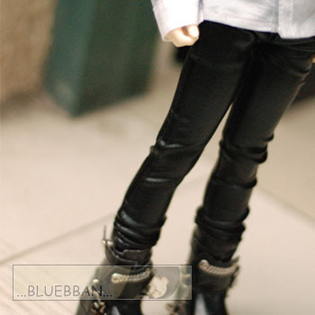 taobao agent 1/4BJD black skinny leather pants, stylish version, suitable for MSD LUTS DZ DOD AOD and other 4 points male baby