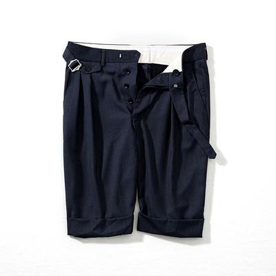 NICK WOOSTER phù hợp với mùa hè quần short nam Bermuda nếp gấp chân rộng năm quần quần Châu Âu và Mỹ triều
