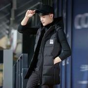 Mùa thu và mùa đông thanh niên nam dày vest nam trùm đầu Hàn Quốc phiên bản của triều Slim dài xuống áo vest vest