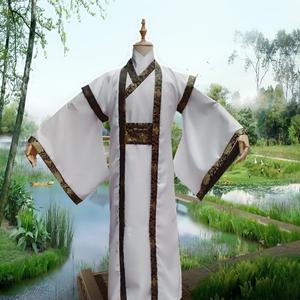Trang phục nam nam đẹp trai Tang phù hợp với phong cách cổ đại cải thiện Hanfu sinh viên quốc gia robes kiếm sĩ học giả rộng tay áo trắng