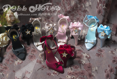 taobao agent [Blue Moon's Doll House] [Cutie] SDGR/SD16/DD and other 3-point girl high heels Shining ball