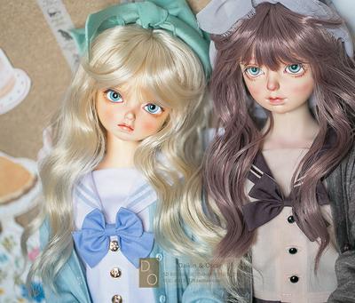 taobao agent DO spot bjd doll hair sd10 13 female gr msd wig dd3 points 4 points mdd hair 6 points bangs roll