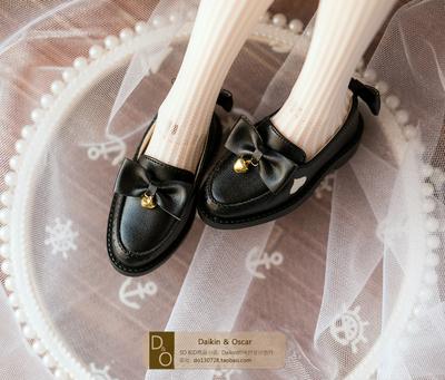 taobao agent DO spot bjd3 points female doll shoes sd10 13 dd lace bow bells heart-shaped uniform shoes
