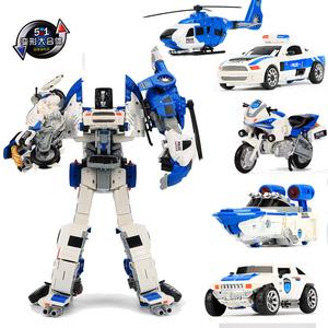Trẻ em Boy hợp kim biến dạng đồ chơi King Kong Fit chính hãng Mô hình xe máy Robot Máy bay xe máy Cảnh sát - Gundam / Mech Model / Robot / Transformers