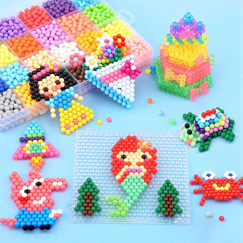 Magic Water Mist Magic Bead Set Hướng dẫn làm bằng tay Nước dính DIY Nước hòa tan Bean Puzzle Boy Girl Đồ chơi trẻ em - Handmade / Creative DIY