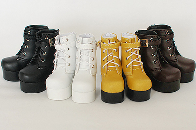 taobao agent BJD boots SUN74 three-color 3 points 4 points high-heeled women's boots brown black white yellow SD baby shoes boots