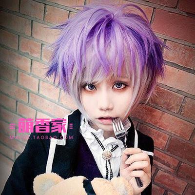 taobao agent Meng Xiangjia DIABOLIK LOVERS Devil Lovers Reverse Roller Gradient Color Cos Wig