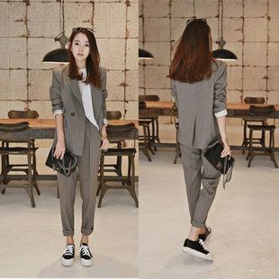 2020 новый корейский OL оккупация установите женщина темперамент тонкий костюм поверхность тест работа одежда небольшой костюм пальто