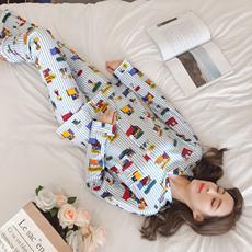 实拍现货新款8515针织棉翻领开衫开扣长袖长裤家居服睡衣173