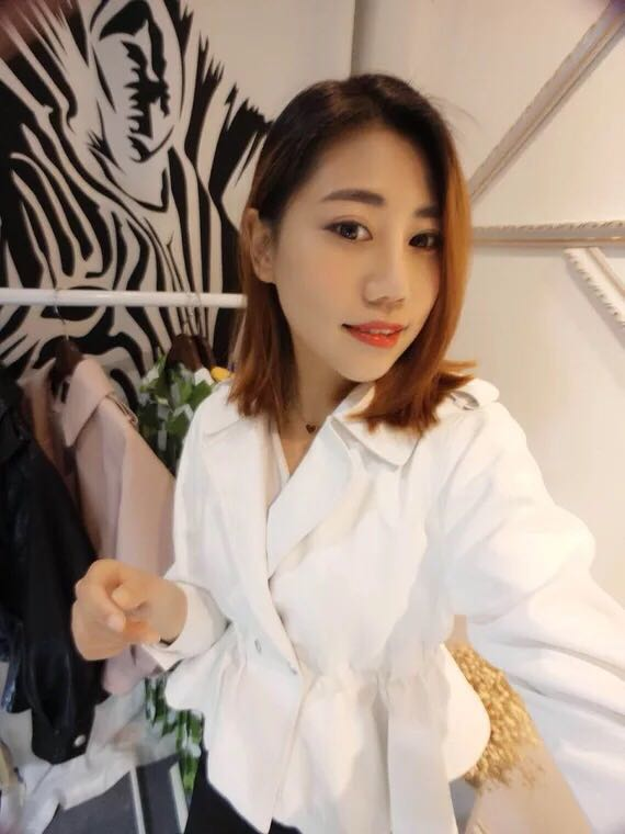 Mới của Hàn Quốc phiên bản của thịt bò gân eo mỏng đoạn ngắn phù hợp với lớn phù hợp với cổ áo ve áo áo ngắn da