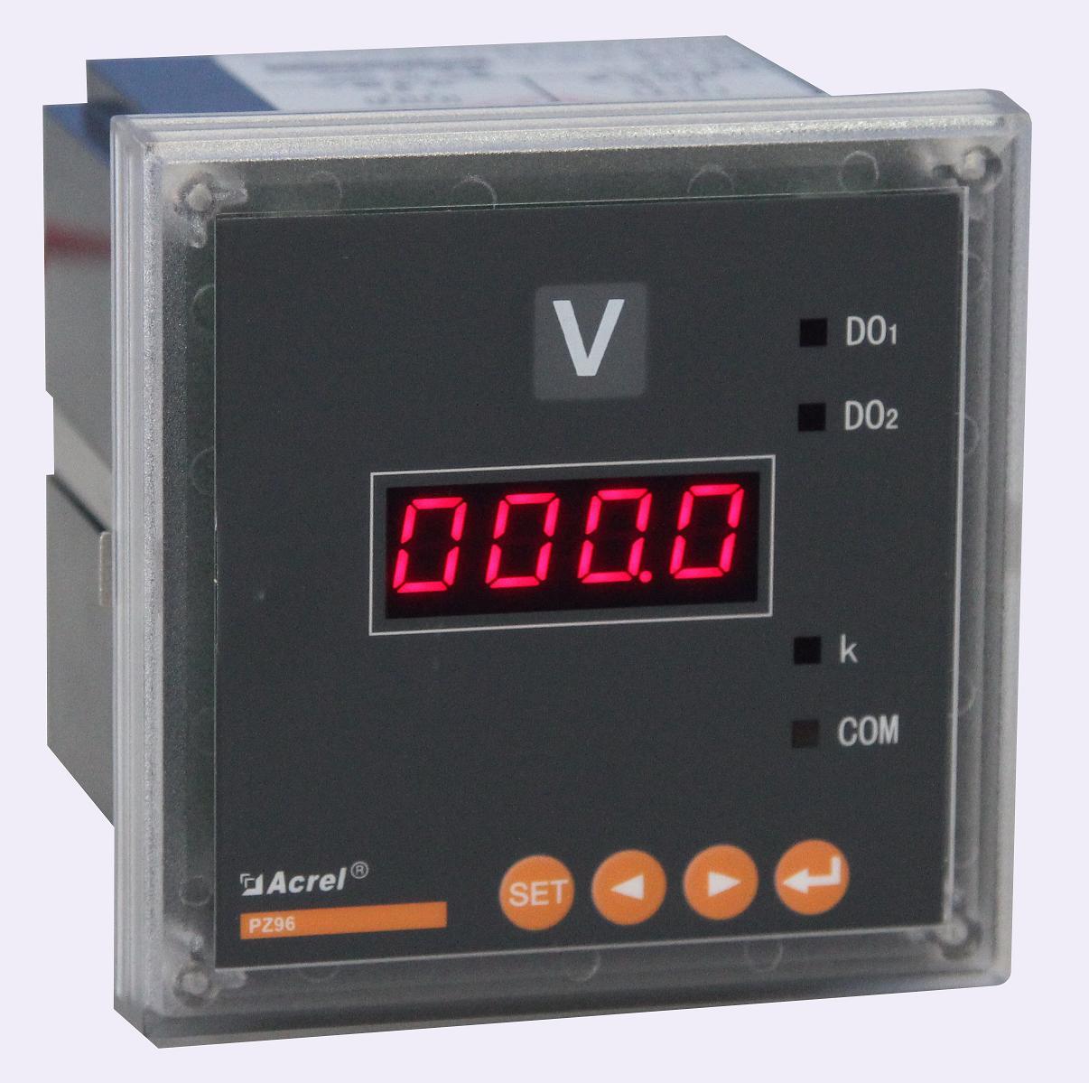 安科瑞厂家PZ72-AV/KC 单相电压表 数码显示 开关量 RS485通讯