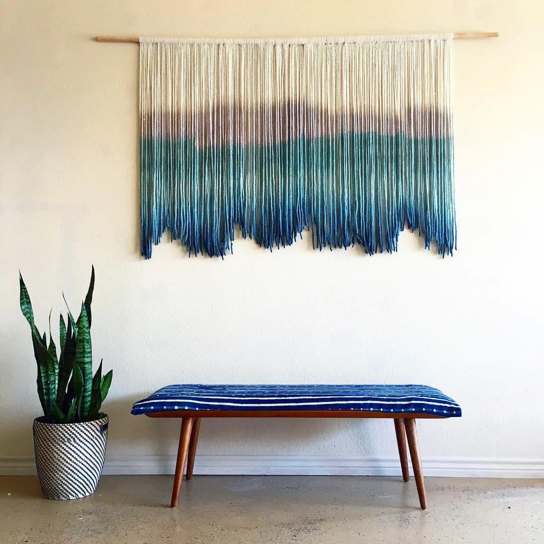 LASO ins Bắc Âu dệt tay nhuộm tấm thảm phòng khách trang trí phòng ngủ dệt vải tùy chỉnh tấm thảm