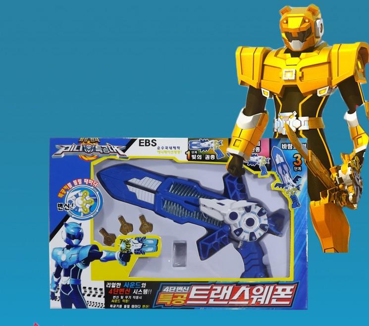 Hàn quốc Mini Đại Lý Đội Đồ Chơi Trẻ Em Mạnh Nhất Chiến Binh Búp Bê Búp Bê Vũ Khí Transformers Robot Tại Chỗ