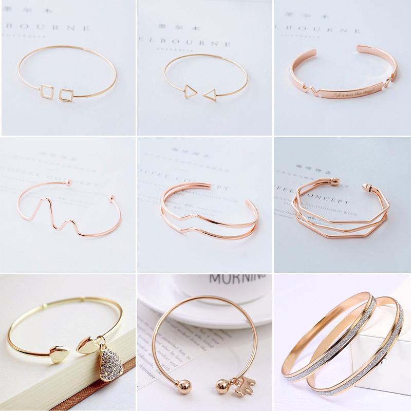 Nhật bản và Hàn Quốc phiên bản của đồ trang sức đơn giản thời trang hoang dã vòng tay nữ sinh viên bạn gái cá tính mở nail bracelet bracelet trang sức