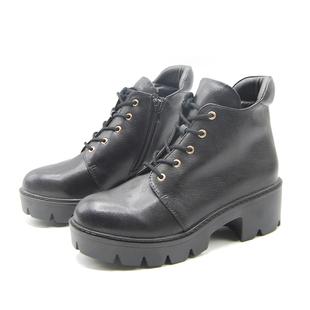 【达芙妮】时尚潮流厚底松糕女马丁靴