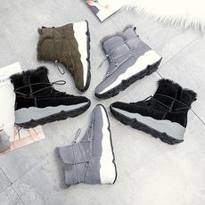 2017秋冬新款保暖防滑绒面雪地靴女靴女鞋aa9099