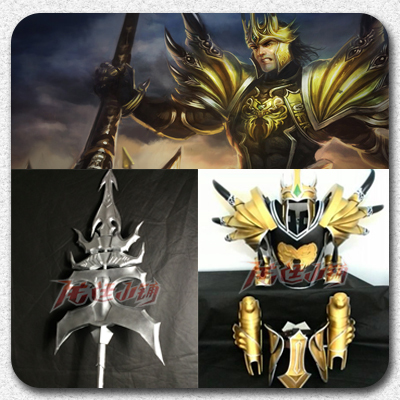 taobao agent 【Long Ting】League of Legends cosplay props / Demacia Prince Jarvan IV Armor Weapon Full Set