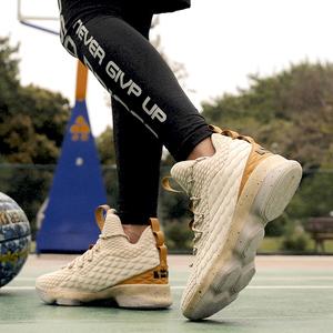 Giày bóng rổ James thế hệ thứ vàng champagne vàng lính 11 mặc sinh viên không trượt giày nam giới và phụ nữ giày thể thao