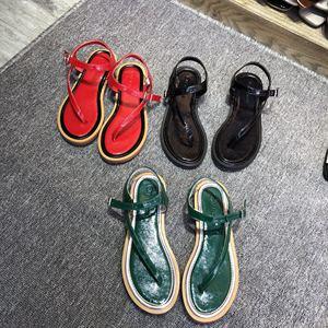 浩杨家2018夏季平底夹脚凉鞋拖鞋女