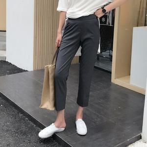 Hàn Quốc thứ tự đàn hồi eo khổng lồ mỏng chân vi- đàn hồi chín điểm phù hợp với quần ống quần phụ nữ exk123