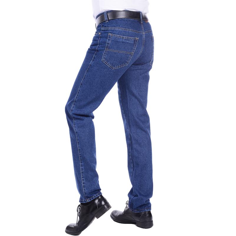 Mùa xuân và mùa hè người đàn ông trung niên của jeans overalls bông nam thẳng phần dày quần hàn bảo hiểm lao động dụng cụ túi