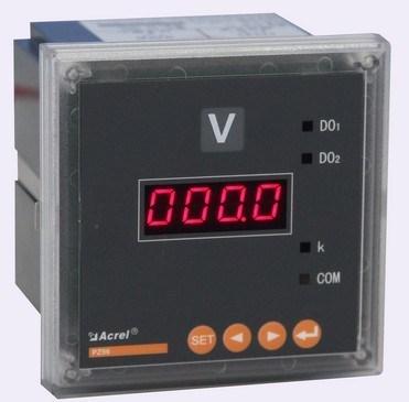 安科瑞厂家直销 PZ42-AV/C 单相电压表 数码管显示 带RS485通讯