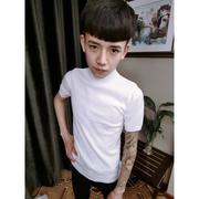 Bác nam cửa hàng Liu ngã ba ngã ba Zhao Zhongge với nam cao cổ áo ngắn tay áo len Hàn Quốc Slim nam áo len