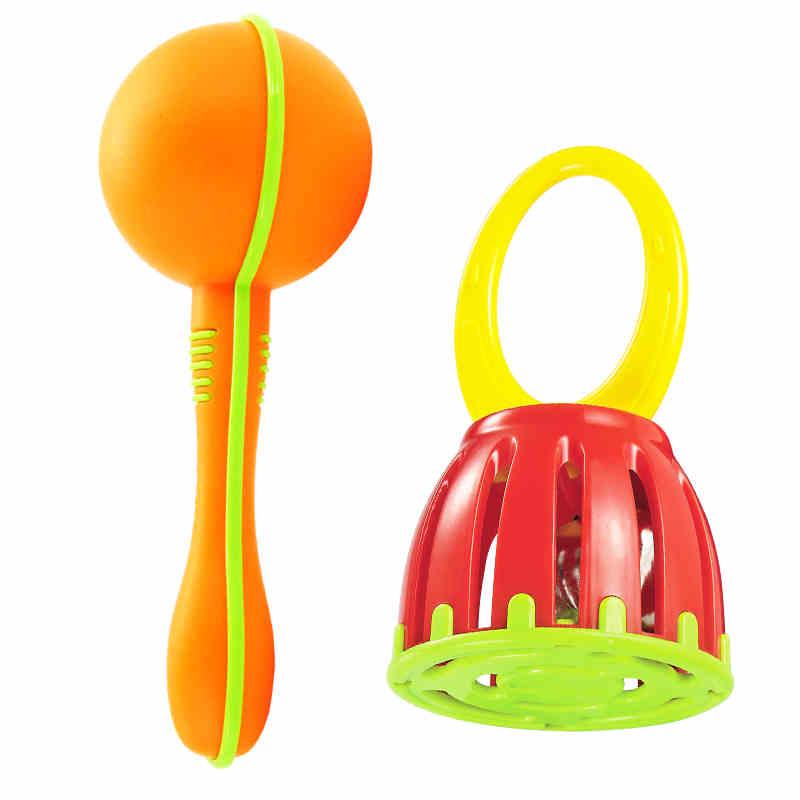 新生宝宝多色沙锤沙球婴儿小手抓握追听视训练玩具宝宝玩具沙锤