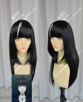 taobao agent Death game death billiards black hair female 60cm highlighting anime maid loli costume cosplay wig