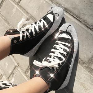 (實拍)水鉆短靴女學生運動鞋 型號:zc1