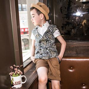 Lavensey Levin 禧 quần áo trẻ em 2018 mùa hè cậu bé mới vest gió Anh mỏng đôi ngực vest