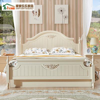 双人床公主韩式田园床1.2m 1.5米白色床欧式简约实