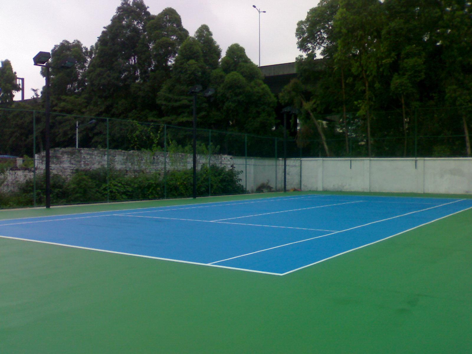 弹性丙烯酸球场材料篮球场网球场羽毛球场面层涂料塑胶地面球场