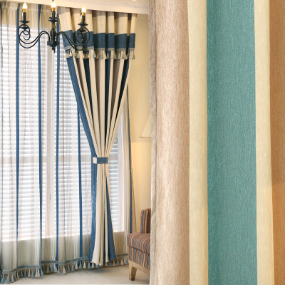 加厚遮光雪尼尔窗帘落地窗罗马帘布料定制卧室