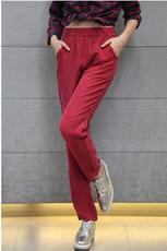 现货欧美秋新款铜氨丝裤子重磅真丝女裤宽松哈伦裤中腰长裤休闲裤