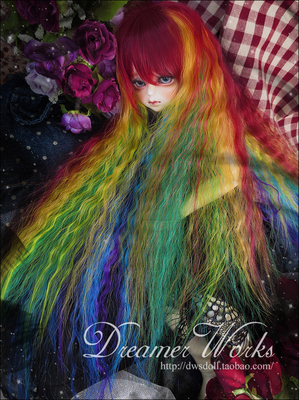 taobao agent BJD SD 4 points 3 points wig hair/high temperature silk-princess curly long hair 1/3, 1/4, 1/6 two color options