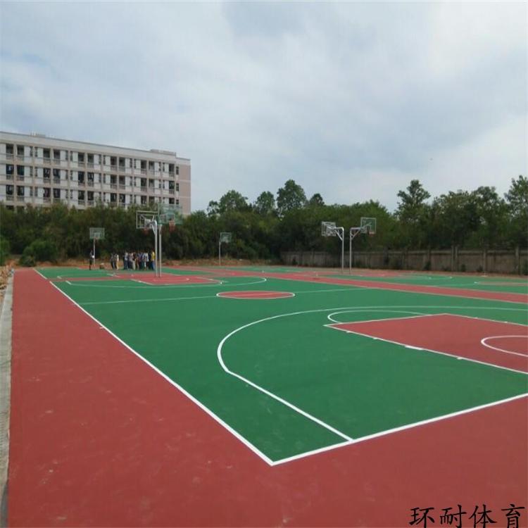 重庆塑胶硅PU蓝球场耐磨运动场材料丙烯酸网球场地板涂料工程报价