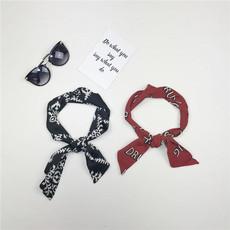 *韩国chic风长条小丝巾装饰发带女百搭学生时尚气质围巾英伦小领