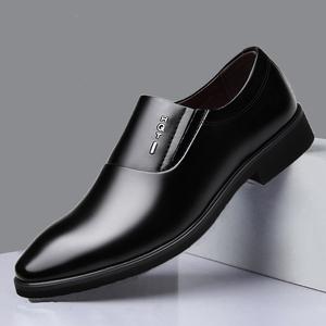 春秋男士皮鞋商務正裝皮鞋男黑色休閑真皮英倫男皮鞋辦公室上班鞋
