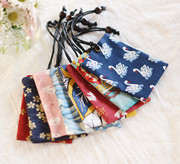 Nhỏ Paris ba mảnh của bản gốc tự chế handmade vải Nhật Bản bộ thẻ xe buýt thẻ truy cập gói lưu trữ túi