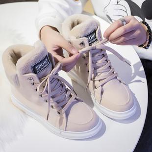 新款雪地靴女加绒加厚棉鞋女短靴子马丁