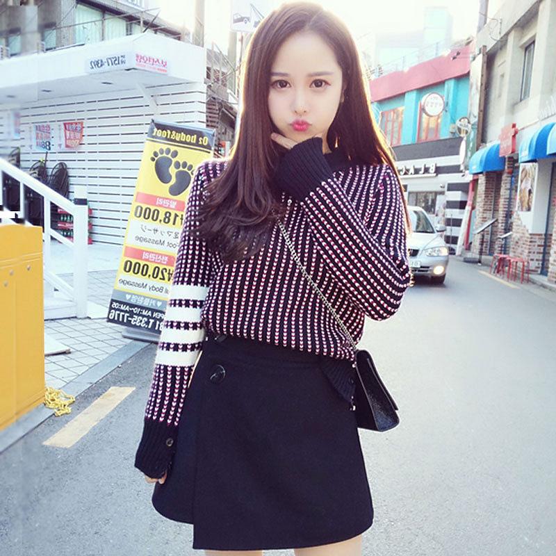 39韩版2018秋装新款针织毛呢毛衣套装裙子两件套