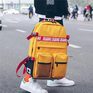 双肩包男15.6寸大容量电脑旅行背包潮韩版学院风高中学生书包女